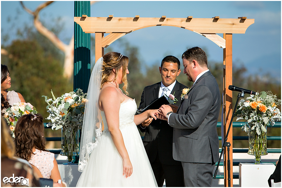 San Diego Natural History Museum Wedding - rooftop ceremony