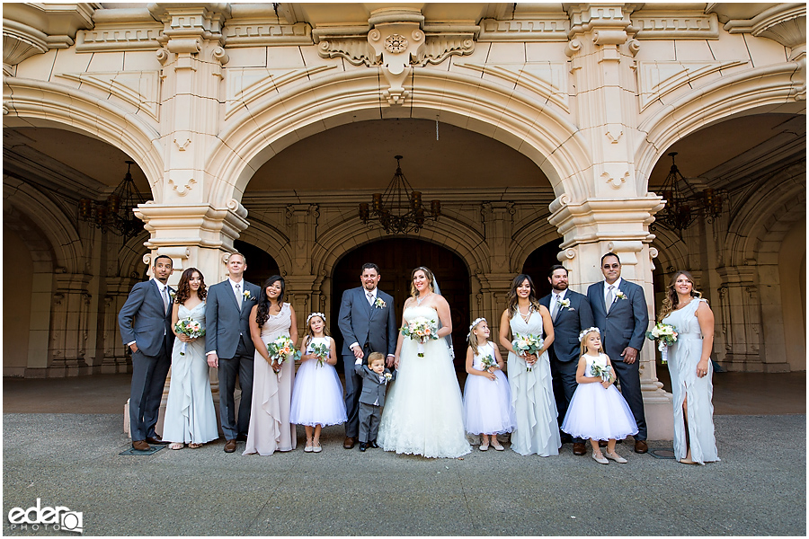 San Diego Natural History Museum Wedding -wedding party photos in Balboa Park.