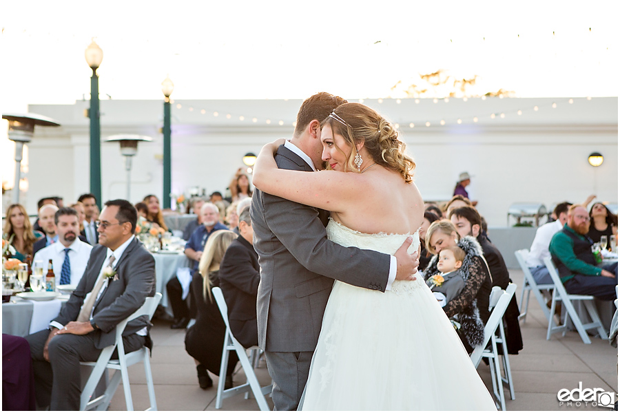 San Diego Natural History Museum Wedding Reception - first dance