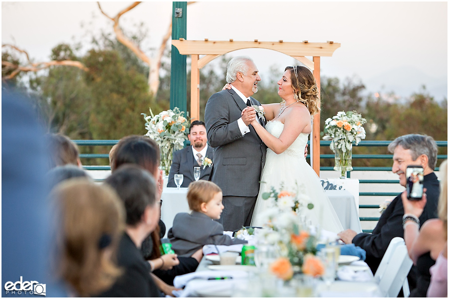 San Diego Natural History Museum Wedding Reception - father daughter dance