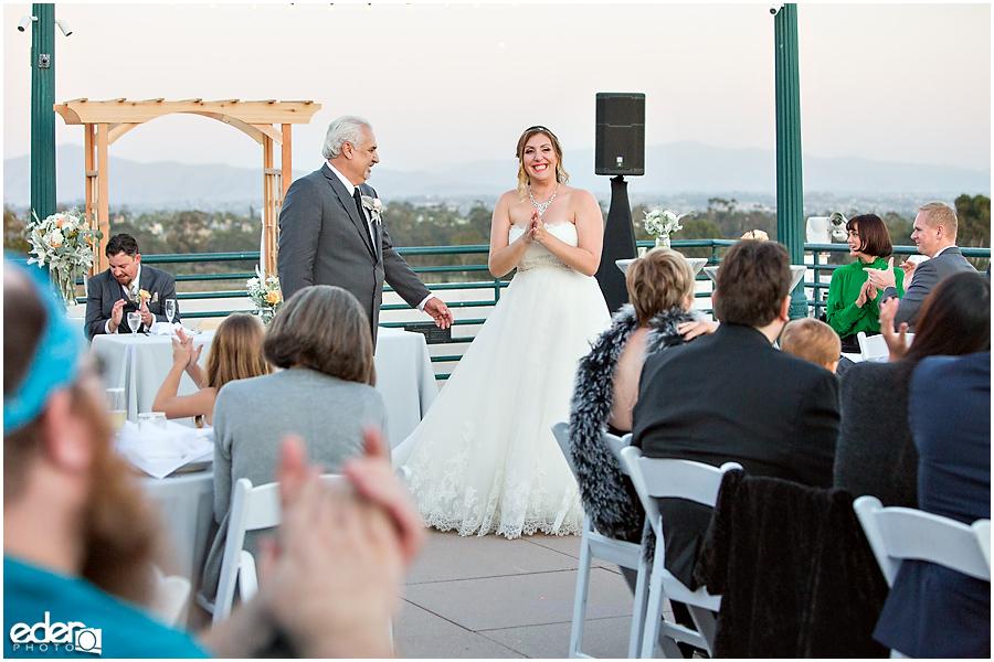 San Diego Natural History Museum Wedding Reception - parent dances