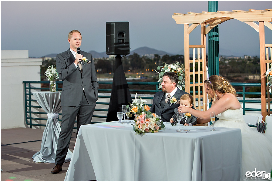 San Diego Natural History Museum Wedding Reception - toasts