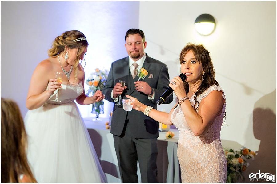 San Diego Natural History Museum Wedding Reception - toast