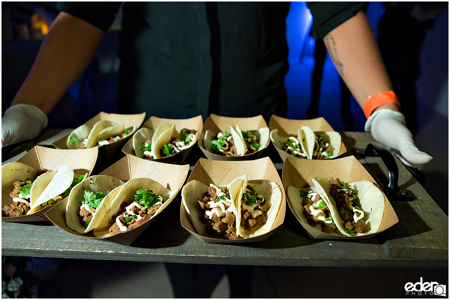 San Diego Natural History Museum Wedding Reception - late night tacos