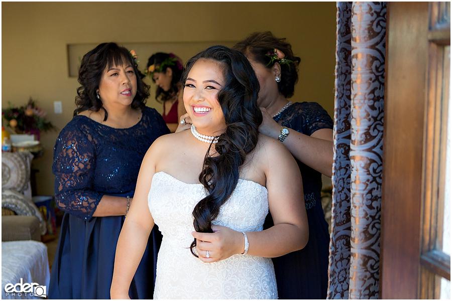 The Immaculata Wedding - bride getting ready