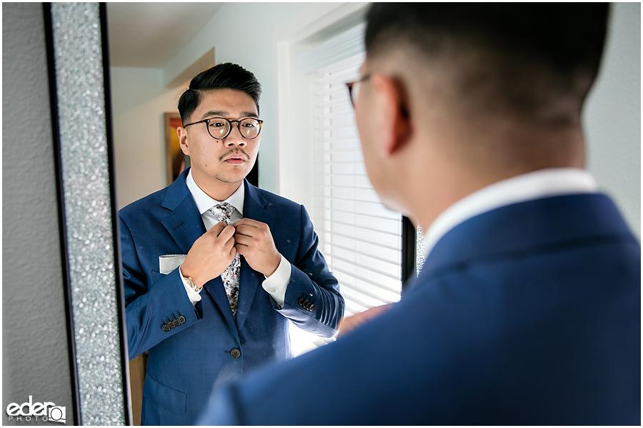 The Immaculata Wedding - groom getting ready