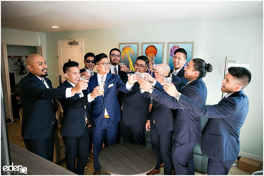 The Immaculata Wedding - groomsmen toasting