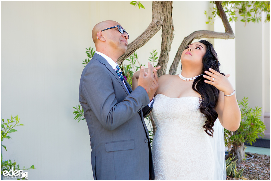 The Immaculata Wedding - bride and father
