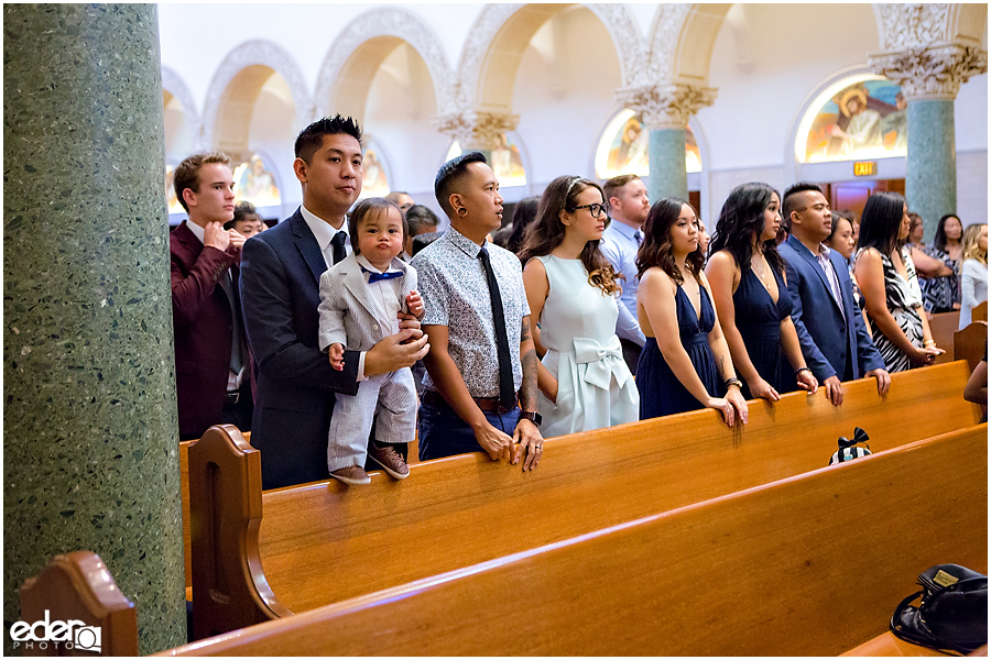 The Immaculata Wedding Ceremony guests