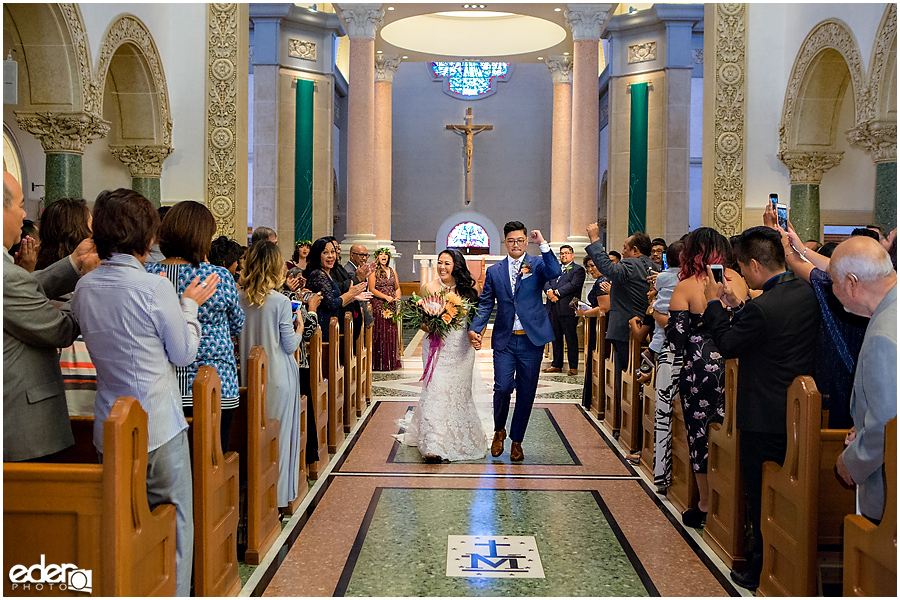 The Immaculata Wedding Ceremony recessional