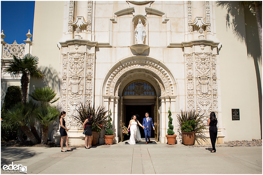 The Immaculata Wedding Ceremony - just married