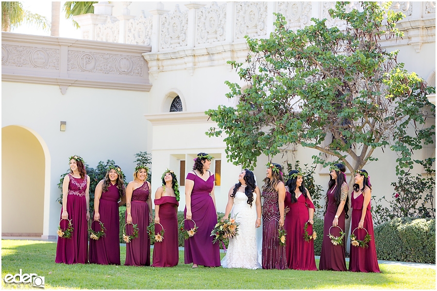 The Immaculata Wedding portraits bridesmaids