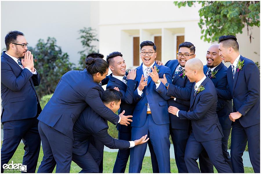 The Immaculata Wedding portraits groomsmen