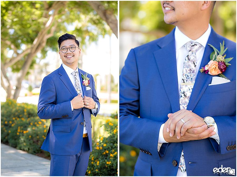 The Immaculata Wedding groom portraits