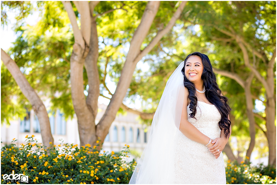 The Immaculata Wedding portraits of bride