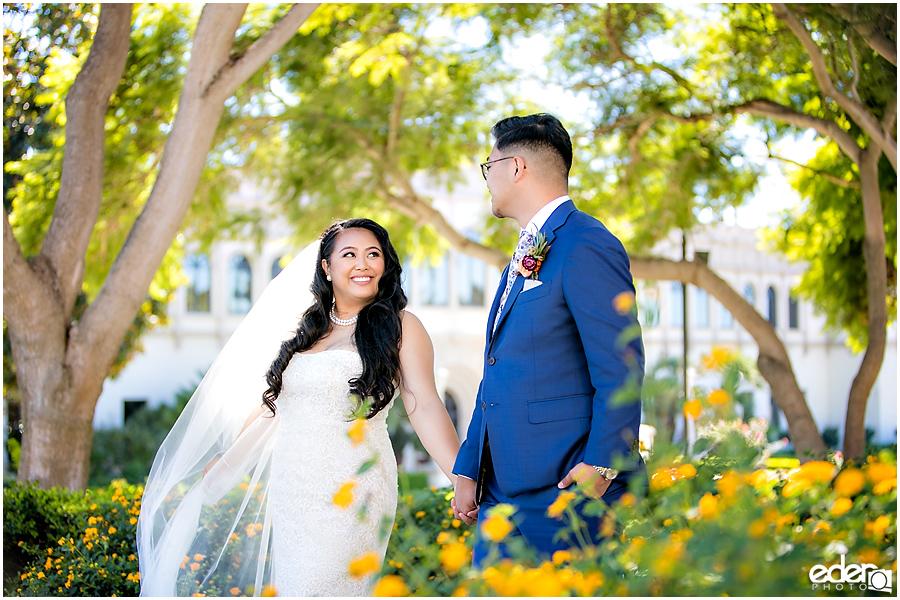 The Immaculata Wedding portraits of couple