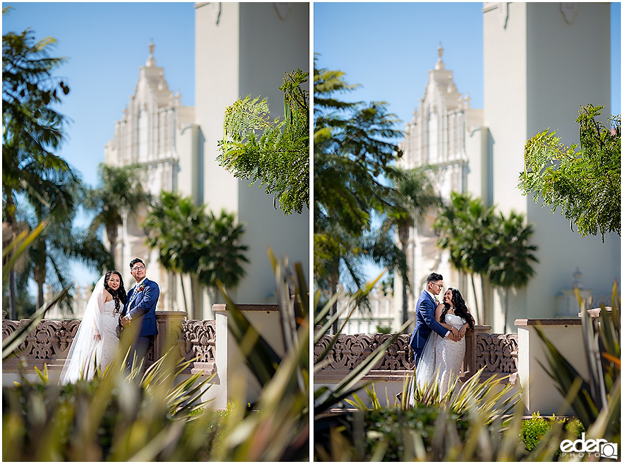The Immaculata Wedding portraits of bride and groom