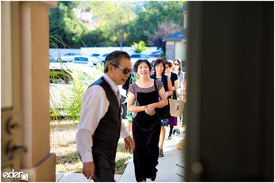 Lao Wedding Ceremony guests arriving