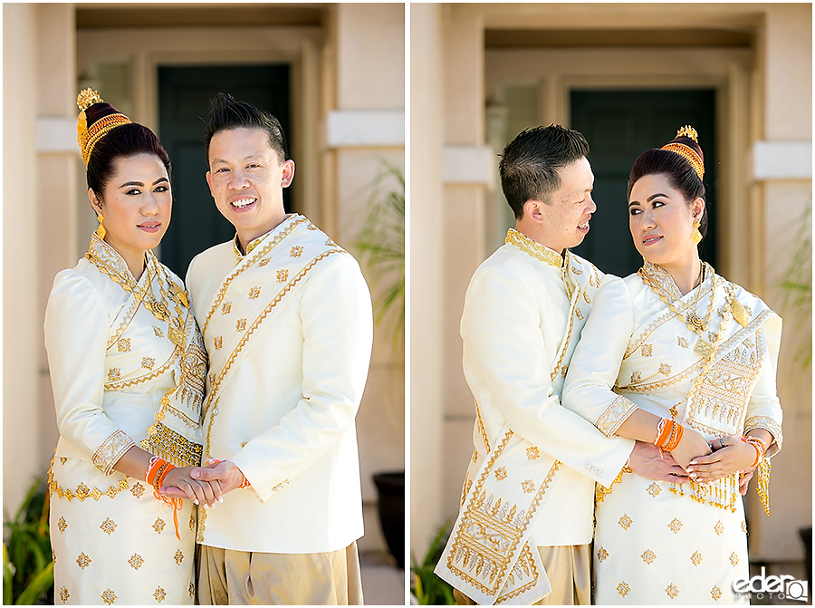 Lao Wedding Bride and Groom Portrait
