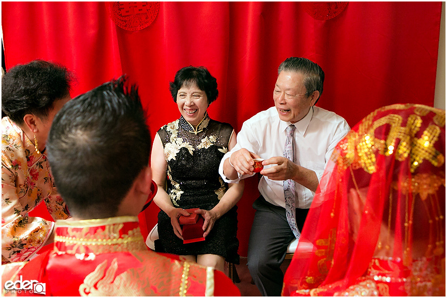 Chinese wedding tea ceremony