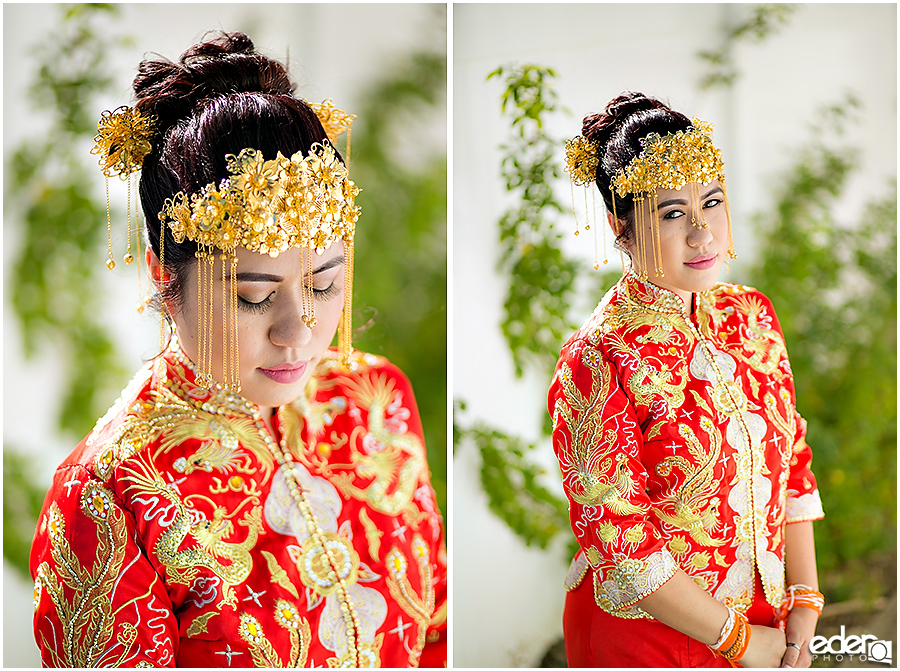 Chinese wedding bride portraits