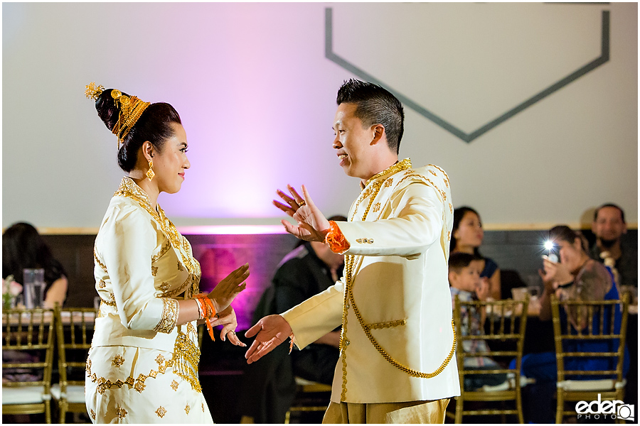 Lao Traditional Wedding Dance at reception in San Diego.