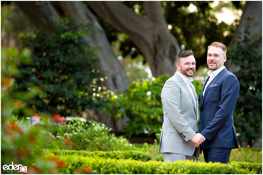 San Diego Elopement Photos at Balboa Park garden.