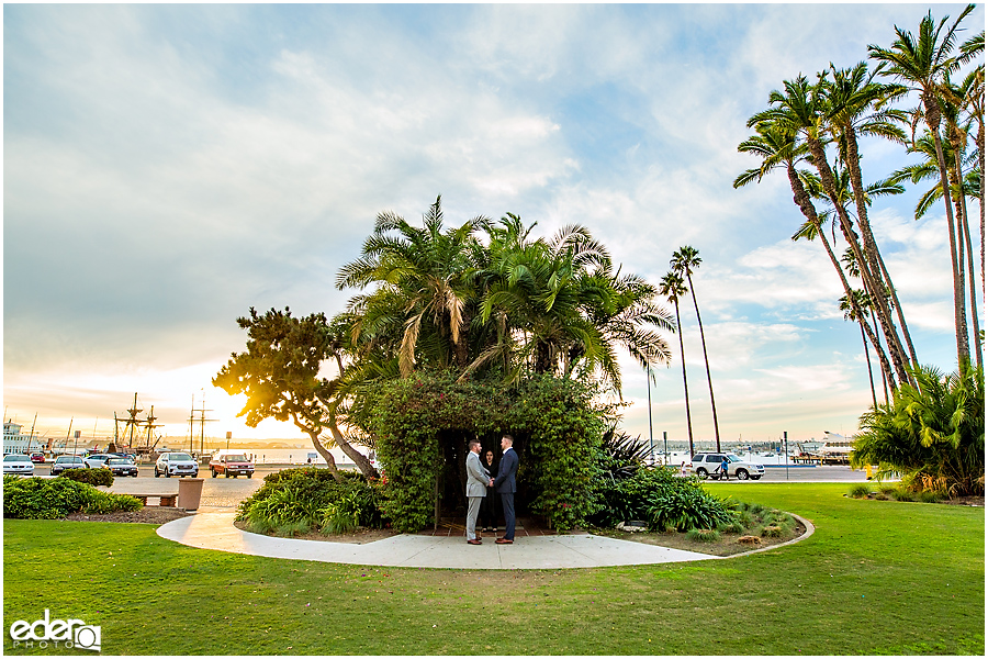 Civil Marriage Ceremony in San Diego, CA.