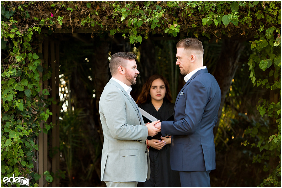 San Diego County Building Elopement Ceremony ring exchange.