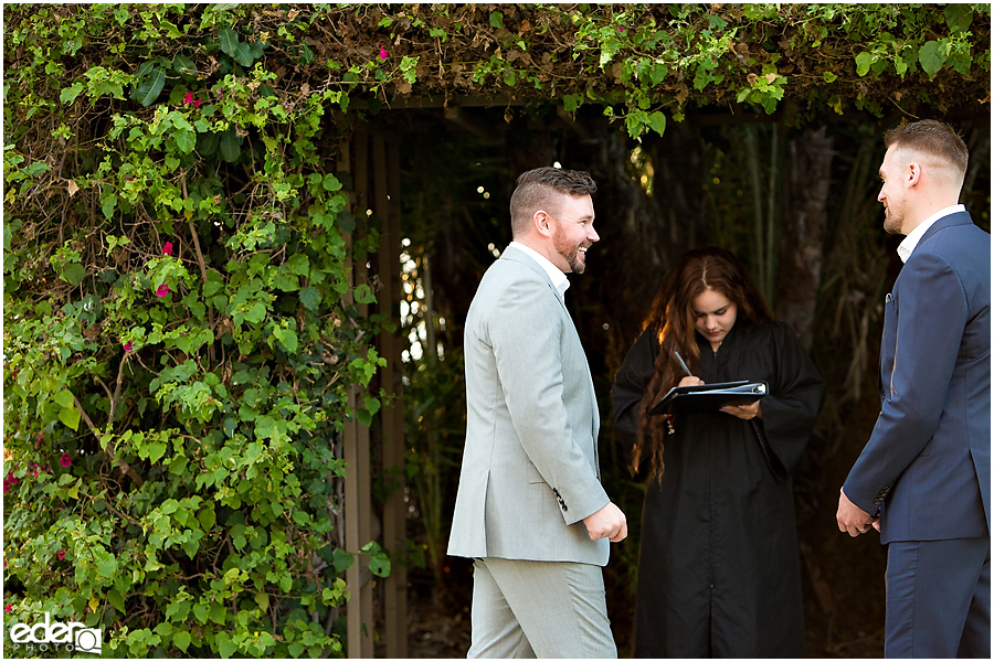 San Diego County Building Elopement Ceremony outdoors.