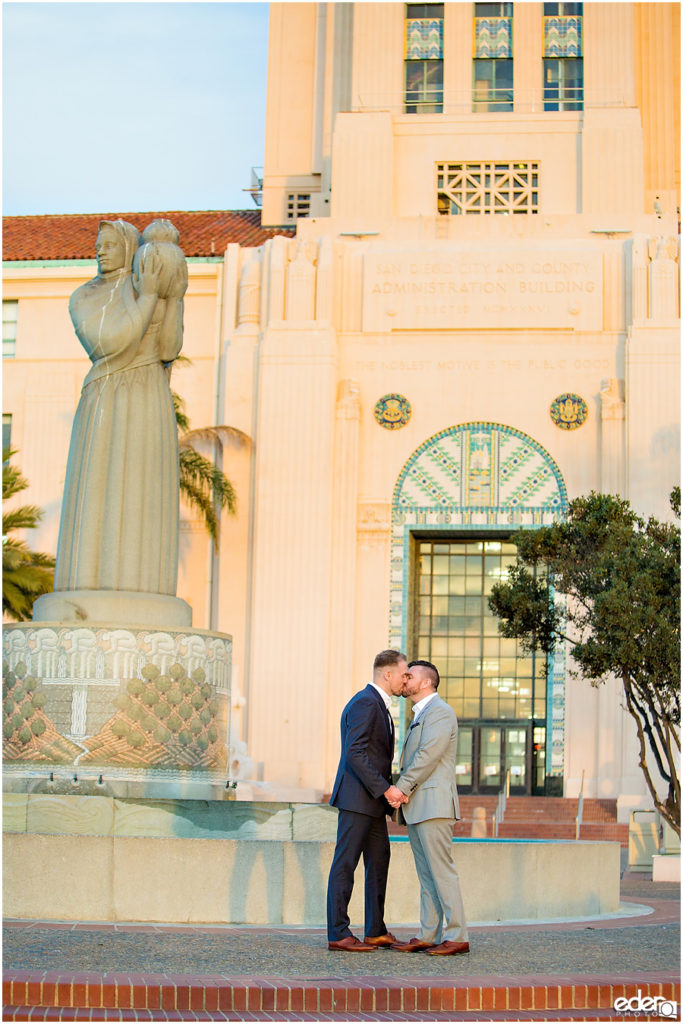 San Diego County Administration Building Civil Marriage Ceremony.