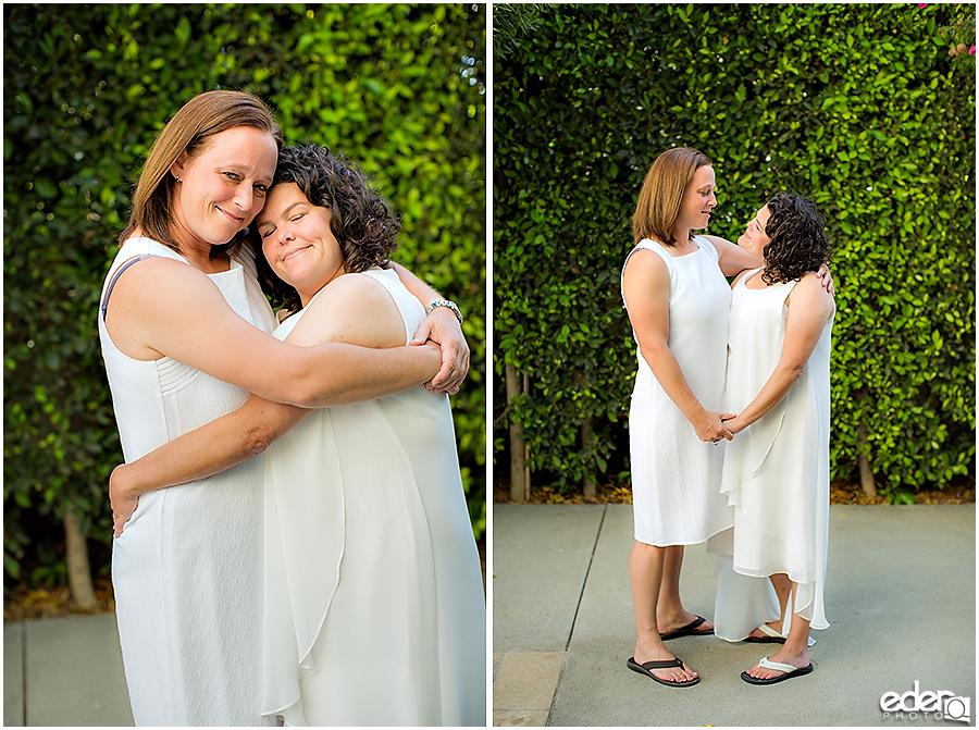Coronado Beach Elopement - same sex couple