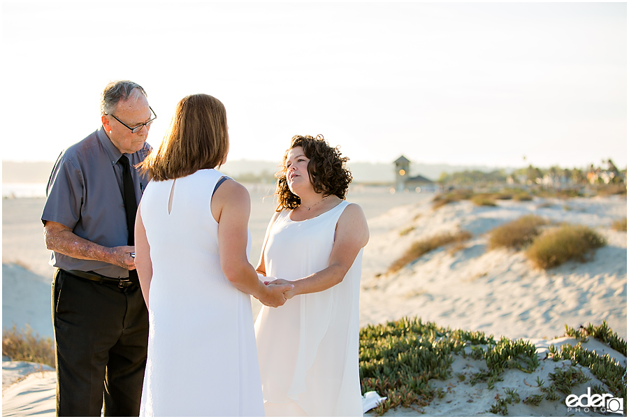 Coronado Beach Elopement - same sex wedding