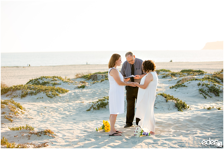 Coronado Beach Elopement - destination wedding