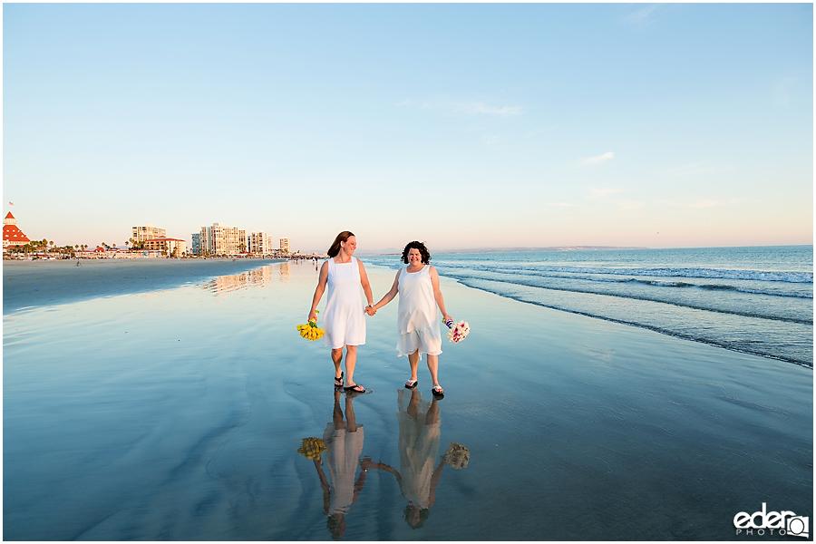 Coronado Beach Elopement - wedding photos