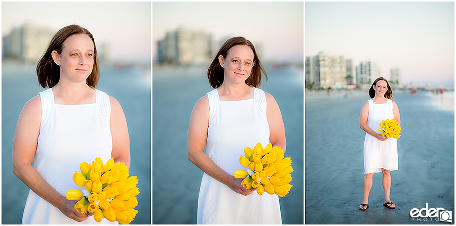 Coronado Beach Elopement - bride portraits