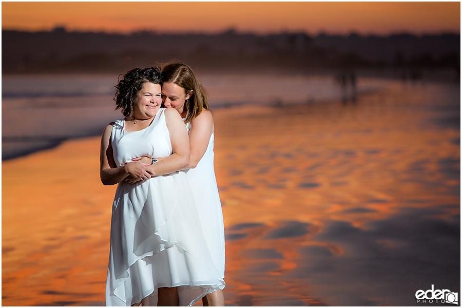 Coronado Beach Elopement - same sex wedding