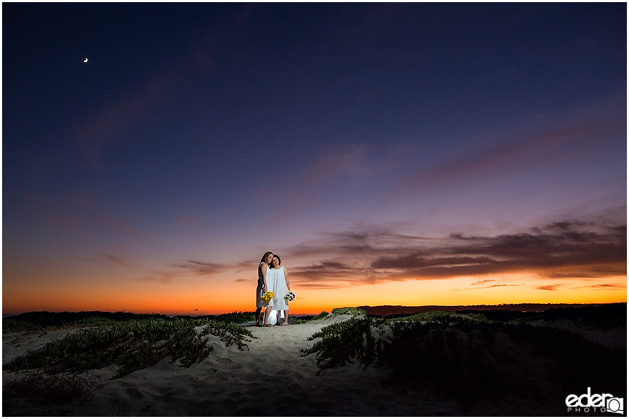 Same sex wedding portraits in Coronado