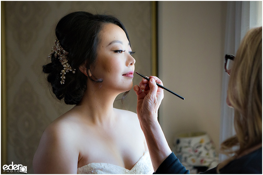 Small Winter Wedding La Jolla - bride makeup