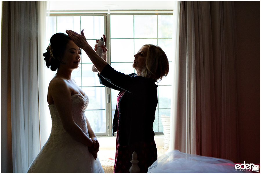 Small Winter Wedding La Jolla - bride hair