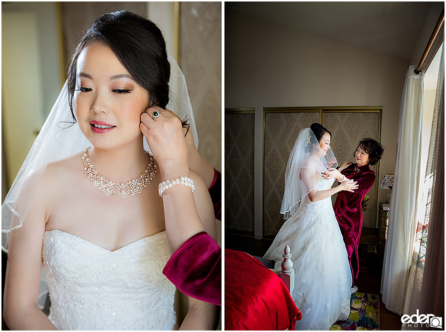 Small Winter Wedding La Jolla - bride getting ready