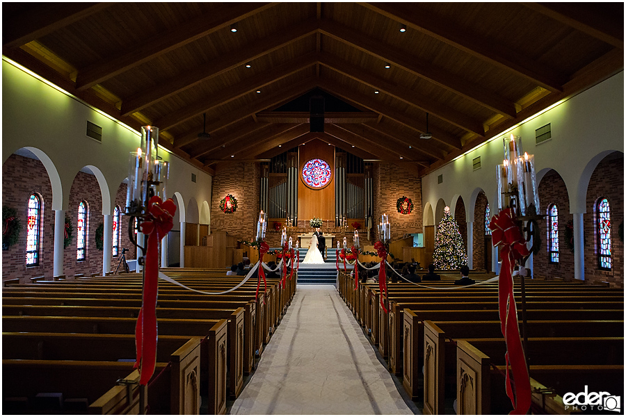 Torrey Pines Church Wedding - wide photo of ceremony