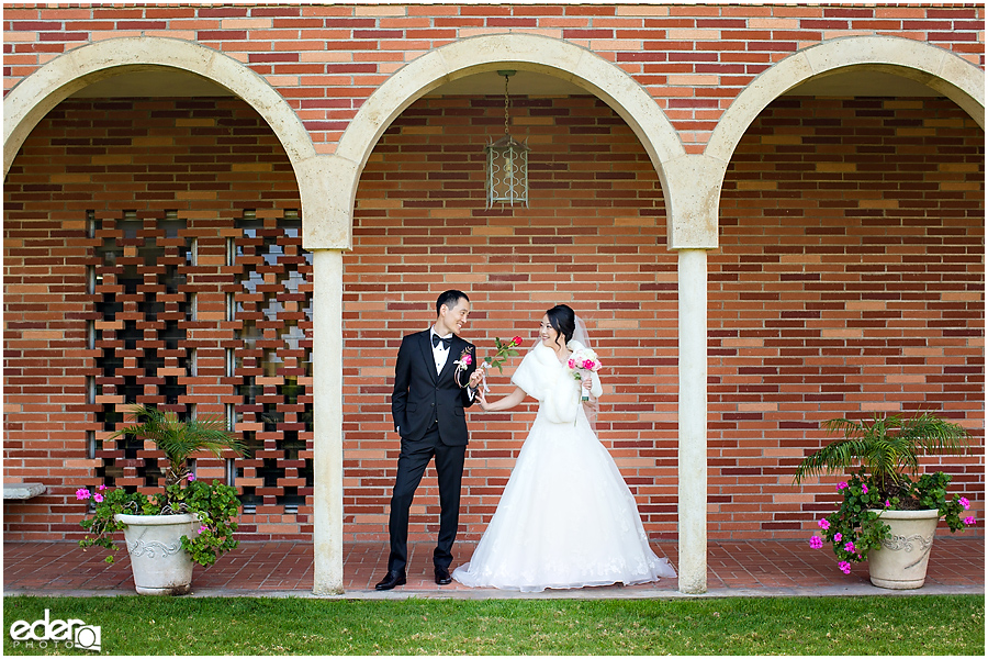 Torrey Pines Church Wedding - portraits of couple