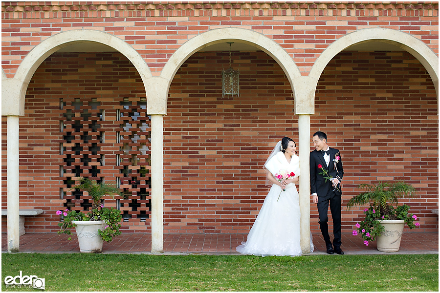 Torrey Pines Church Wedding - portrait of bride and groom