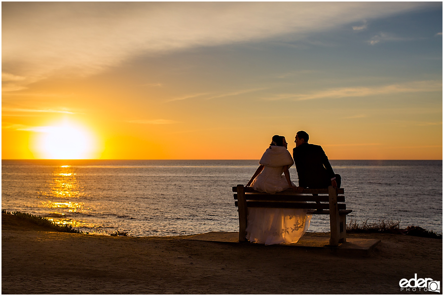 Small Winter Wedding La Jolla - sunset photos