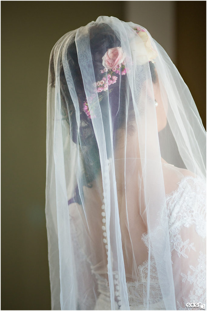 Kona Kai Wedding detail photo of veil.