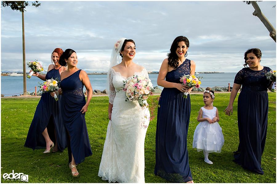 Kona Kai Wedding portrait of bridesmaids.