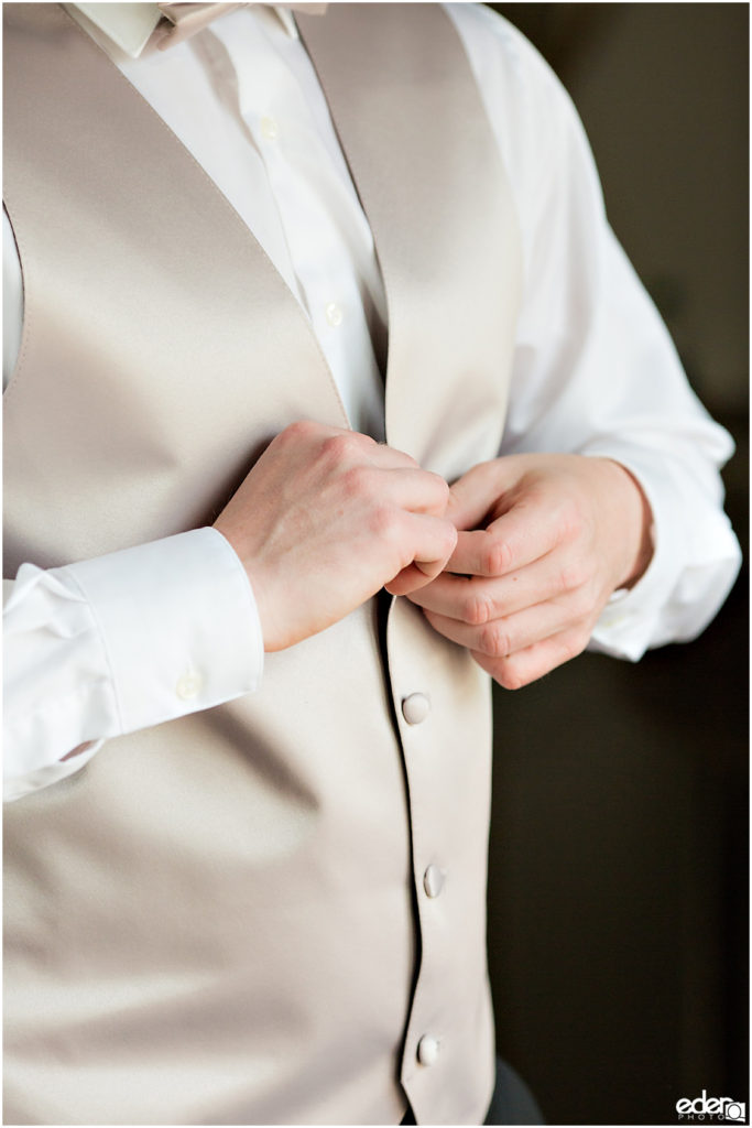 Kona Kai Wedding groom getting ready photo.