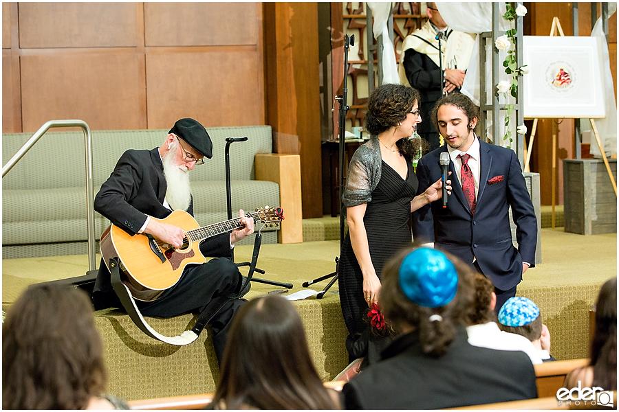 Ohr Shalom Synagogue wedding singing.