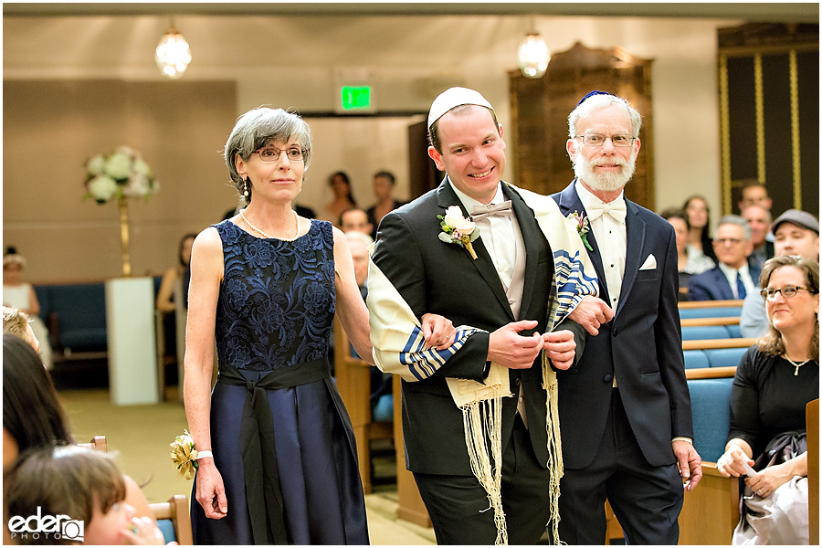 Ohr Shalom Synagogue wedding groom and parents.